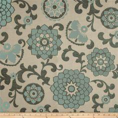 Richloom Aurita Jacquard Aquamarine Fabric