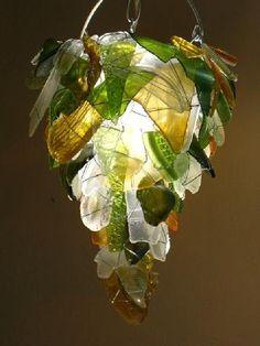 Chandelier | Crafts - Seaglass | Pinterest | Sea glass, Glass ...