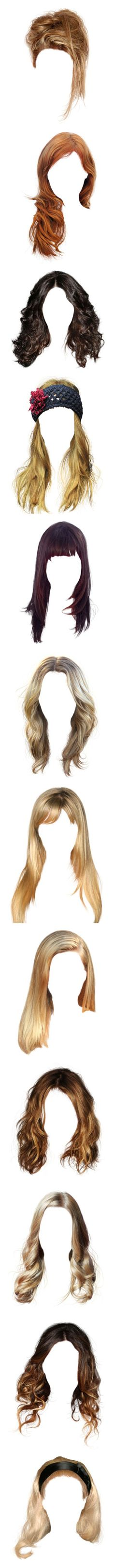 """""""Hair 06"""" by lyannas ❤ liked on Polyvore featuring beauty products, haircare, hair styling tools, hair, wigs, blonde hair, doll parts, dolls, doll hair and hairstyles"""