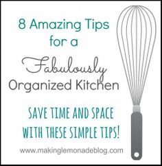 8 tips to save you time and space in the kitchen.