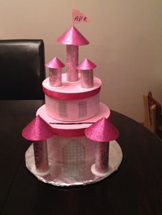 Pink princess castle valentine box for my little angel. :)