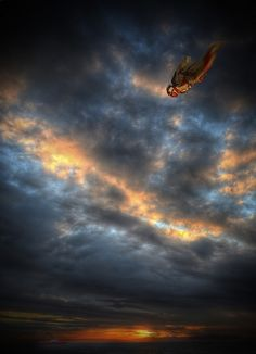 sky diving at sun set would be incredible!