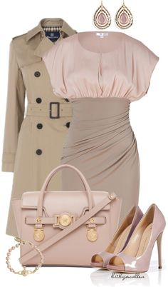 """Blush & Beige"" by bitbyacullen ❤ liked on Polyvore"