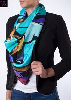 "https://www.cityblis.com/4454/item/15513 | Copenhagen Sydhavnen, Giant - $208 by UrbanLabCouture | Giant 131cm x 131cm, 100% Satin Silk, hand-hemmed luxury scarf. Made in Italy. From the International Street Art Limited Edition Collection from URBAN LAB COUTURE.  Local busybodies and ""art connoisseurs"" stuck in the 19th Century will deride this art piece as vandalism, but do we really ... 