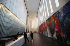 Employees work in the lobby of the One World Trade Center tower in New York. The building is 60 percent leased, with another 80,000 square feet going to the advertising firm Kids Creative, the stadium operator Legends Hospitality, the BMB Group investment adviser, and Servcorp, a provider of executive offices.