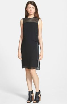 Trouvé+Sleeveless+Mesh+Inset+Dress+available+at+#Nordstrom