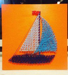 Boat/Veleiro String Art by Arte NK