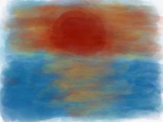 Sunset (realizzato con ipad)