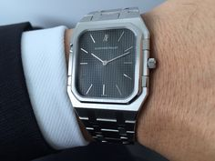 My rectangular AP Royal Oak Ref. from 1977 was a rare and lucky find earlier this year, clearly forgotten by most and hence not much talked about - Gerald Genta, Ap Royal Oak, Dream Watches, Modern Watches, Audemars Piguet, Retro, Mid Century