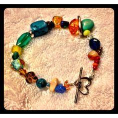 Handmade single strand bracelet.