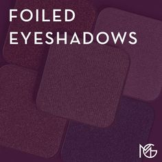 Foiled Eyeshadows are perfect as an all over lid color or to add a pop of color to the inner corner of your eye. Foil Eyeshadow, Eyeshadows, Makeup Geek, Color Pop, Corner, Collection, Metallic Eyeshadow, Eye Shadows, Eyeshadow