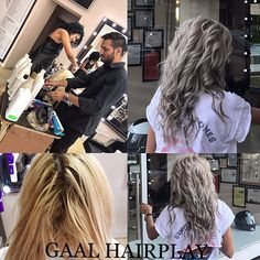 #theperfectgreyhair #greyblonde# working as a team can bring the best results .