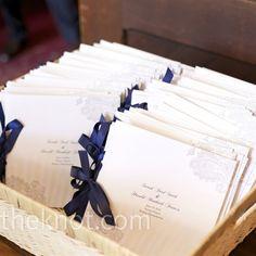 Real Weddings - A Traditional Wedding in Boston, MA - Blue Ceremony Programs Ceremony Programs, Wedding Programs, Wedding Events, Wedding Ceremony, Our Wedding, Wedding Stationary, Wedding Invitations, Invites, Wedding Paper