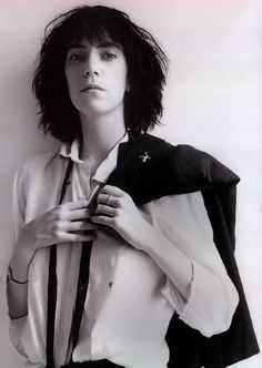 Patti Smith by the Photographer Rober Mapplethorpe