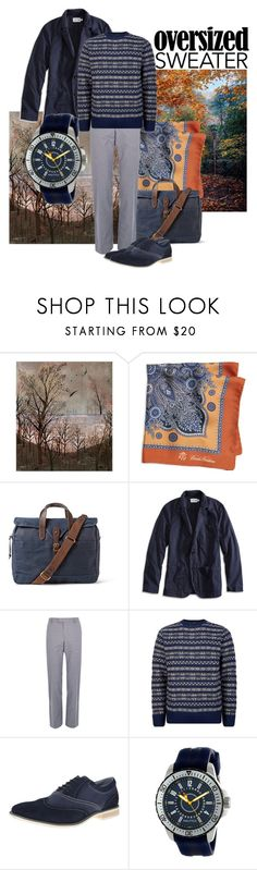Autumn blues by maria-kuroshchepova on Polyvore featuring Nautica, A.P.C., Lucky Brand, J.Crew, Brooks Brothers, River Island, Steve Madden and sweaterweather