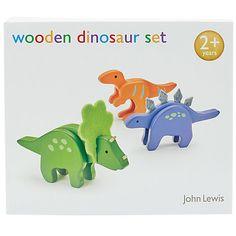 Buy John Lewis Wooden Dinosaur Pack Online at johnlewis.com