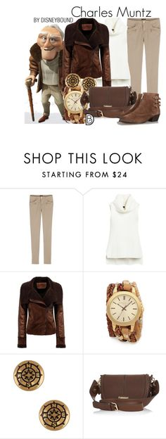 """Charles Muntz"" by leslieakay ❤ liked on Polyvore featuring Disney, White House Black Market, Sara Designs, Alex and Ani, River Island, Rebecca Minkoff, women's clothing, women's fashion, women and female"