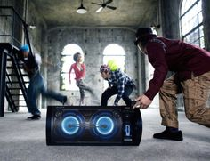 Sony Portable Party System This portable 2-way speaker system...