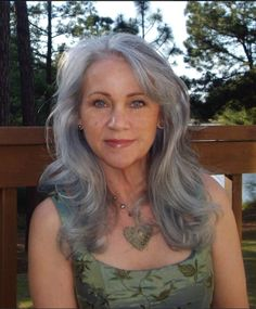 """""""And here we have Mary Ann Welsch,"""" Going Gray Looking Great author Diana Jewell says, almost with pride, as if these women were all her gray proteges..."""