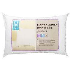 Cotton Rich Twin Pack Pillows