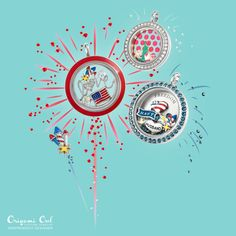 Origami Owl. Red, White and NEW! Just click on the pic.