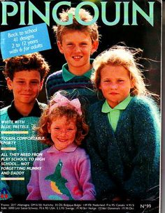 Pingouin No. 99 41 Knitting Pattern Sweater Designs for Kids - Back To School Knitting Yarn, Knitting Patterns, French Days, Back To School, High School, Knitting Magazine, Sweater Design, Pattern Books, Daddy