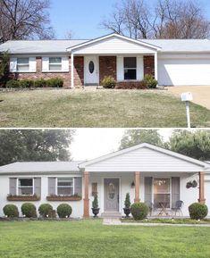 Ranch Exterior, House Paint Exterior, Exterior Remodel, Exterior House Colors, Outdoor House Paint, Brick House Colors, Exterior Houses, Exterior Design, Brick Ranch Houses
