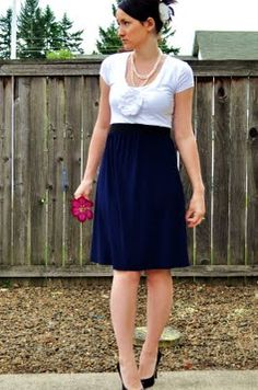 This blog has several posts where the girl refashioned t-shirts into Shabby Apple-inspired dresses. I am so going to try this!