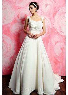 cheap prom dresses Simple Chiffon Cap sleeve A-line silhouette wedding dress - Wedding Dresses on sale,cheap wedding dresses