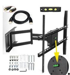 Lumsing Adjustable Tilting/Swiveling Articulating TV Wall Mount LED LCD Plasma Flat Panel Screen —Long Cantilever TV Wall Bracket Mount for Most 17 19 21 22 23 24 26 27 30 31 32 33 36 37 40 42 43 45 46 47 50 52 55 58 with Magnetic Bubble Level ( Corner Tv Wall Mount, Swivel Tv Wall Mount, Swivel Tv Stand, Tv Wall Brackets, Tv Wall Mount Bracket, Wall Mounted Tv, Mount Tv, Plasma Tv Stands, Tv Furniture