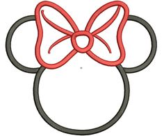 minnie mouse silhouette template - Google Search