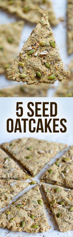 Five Seed Oatcakes Recipe - Palm Oil-free and Gluten-free via @nestandglow