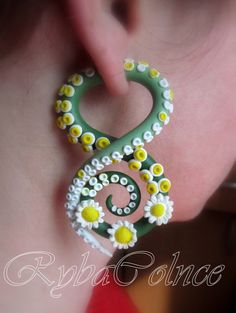 Fake ear tentacle gauges Faux gauges The by RybaColnce on Etsy