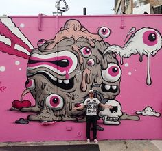 BuffMonster with his work in  Brooklyn, 6/15 (LP)