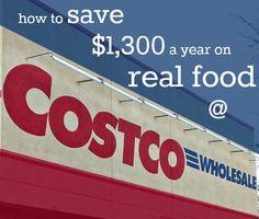 saving money on real food at Costco