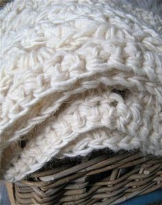 Diy Crochet Pattern Throw Blanket / Rug Super Chunky Double Cable&hellip Pattern
