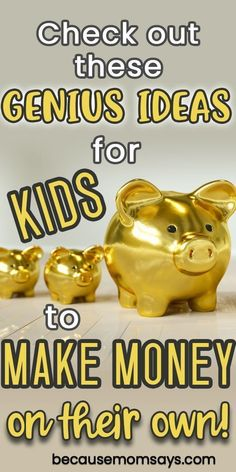 These awesome ways for kids to make money are perfect for kids young and old! When allowance isn't enough and kids want to earn their own money, this list of ways for kids to make money is perfect! Diy Crafts For Kids Easy, Kids Diy, Kids Crafts, Easy Slime Recipe, Rainy Day Fun, Kids Reading, Earn Money, Raise Money, Way To Make Money