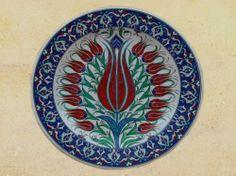 Renkli İznik Tabaklar - Colourful Iznik Plate