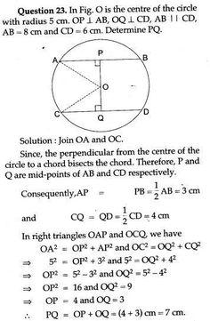 ICSE Solutions for Class 10 Mathematics - Circles - A Plus Topper Maths Ncert Solutions, Isosceles Triangle, Math Charts, Math Vocabulary, Math Formulas, Science, Math Lessons, Teaching English, Textbook