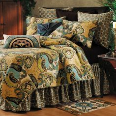 Bedding Sets Queen - Find the Best Queen Bed Sets here at Home Decorating Co. View our great prices on Queen Bedding Sets Now! Bedroom Decor, Decor, Comforter Sets, Paisley Bedding, Rustic Bedding, Bed, How To Clean Pillows, Bedding Sets, Home Decor