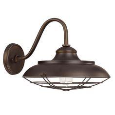 Capital Lighting Barn Style 1-light Burnished Bronze Wall Lantern Light - Overstock™ Shopping - Big Discounts on Capital Lighting Wall Lighting