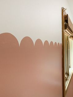 DIY How to paint a Scalloped Wall