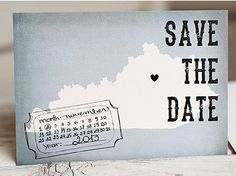 Save the Date Card with State