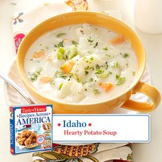 50 States in 50 Days:  Idaho :: Hearty Potato Soup Recipe from Taste of Home.    Find regional Western recipes like this one and more in our new cookbook, Recipes Across America---->  http://www.tasteofhome.com/rd.asp?id=22997