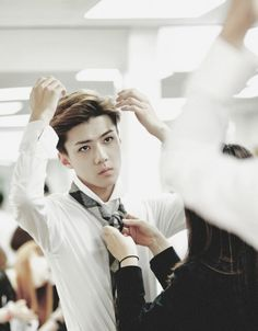 Image about fashion in Sehun by 소녀시대 on We Heart It Suho Exo, Exo K, Park Chanyeol, Exo 2014, Wu Yi Fan, Sm Rookies, Young And Beautiful, Pop Group, Shinee
