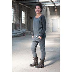 Penn & Ink shirt met gebreid voorpand en gebreide baggy pants. Stoer, comfy, authentiek. www.comfystuff.nl