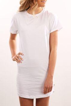 Exes Tee Dress White