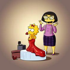 Maggie Simpson's Oscar Dress