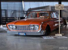 orange station wagon