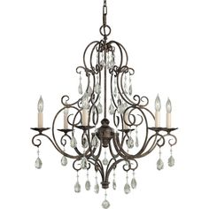 Chateau Six Light Chandelier Murray Feiss Candles Without Shades Chandeliers Ceiling Light